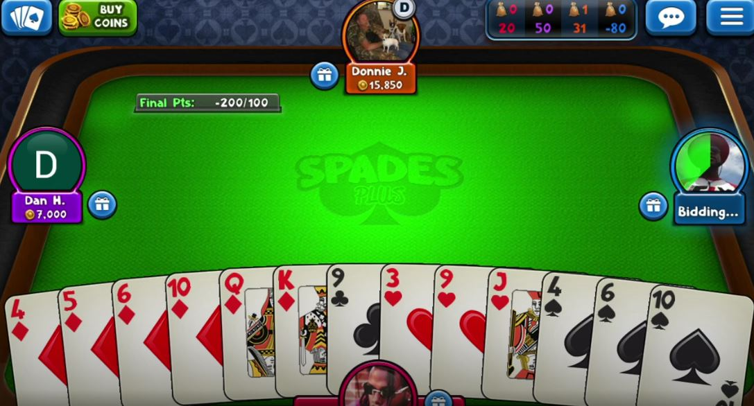 Spades Plus In Game Challenge